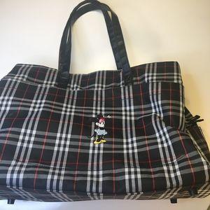 🇺🇸Disney Minnie Mouse Plaid Luggage/Carryon Bag
